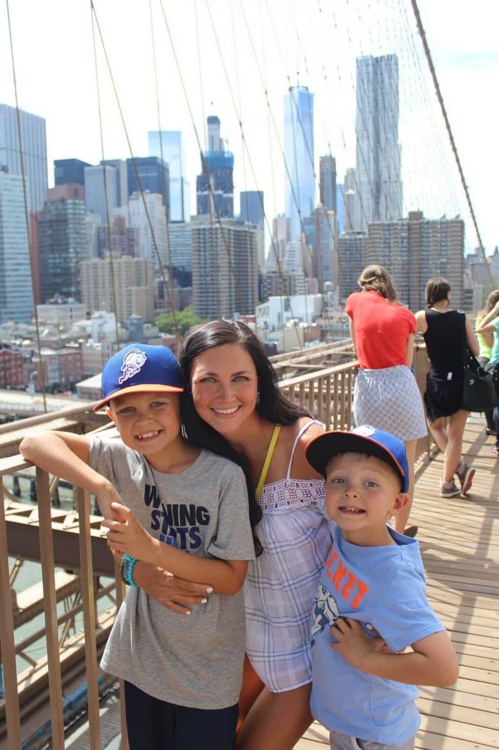 Walking the Brooklyn Bridge NYC with kids