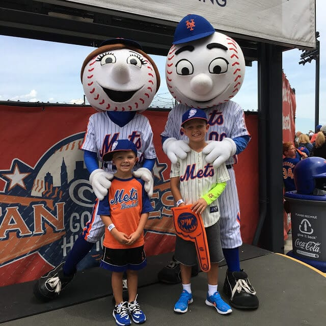 Mets Citi Field with kids, Mr. Met, Family Sunday