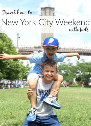 Travel Guide    Weekend in NYC with Kids