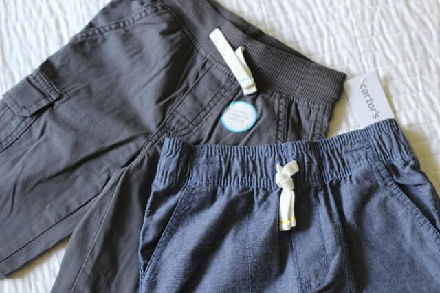 Kohl's Carters Back to School elastic waist pants
