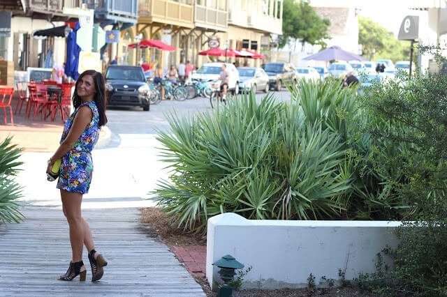 Blue Floral Romper, Rosemary Beach