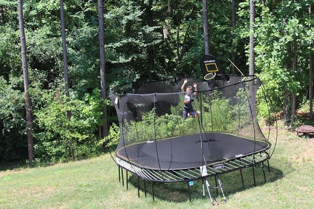 Springfree Trampoline, safe trampoline, basketball hoop