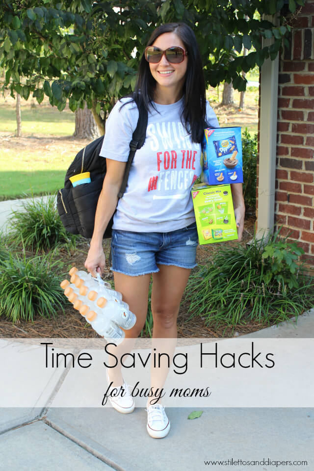 Tips on how to save time as a busy mom via Stilettos and Diapers