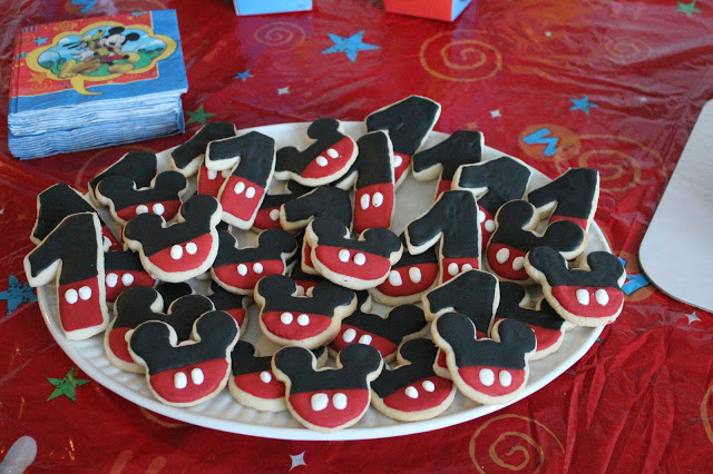 Mickey Mouse Birthday Party, 1st Birthday, Mickey Cookies