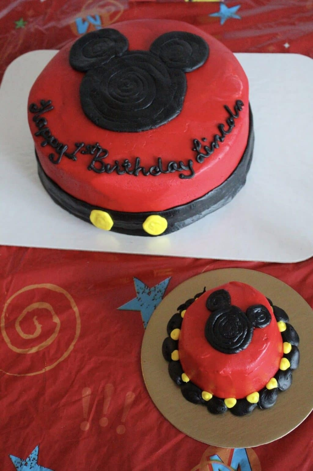 Mickey Mouse Birthday cake and smash cake, 1st Birthday