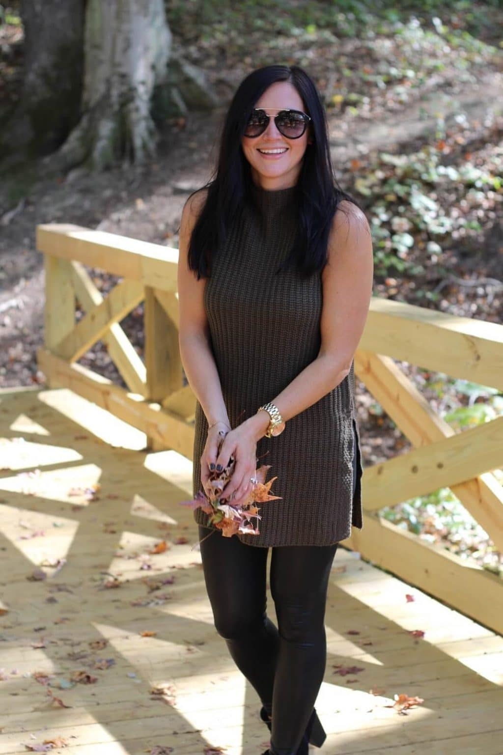 Olive and black style for fall
