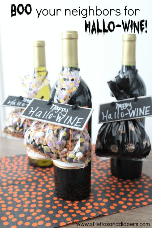 Boo your neighbor wine printable