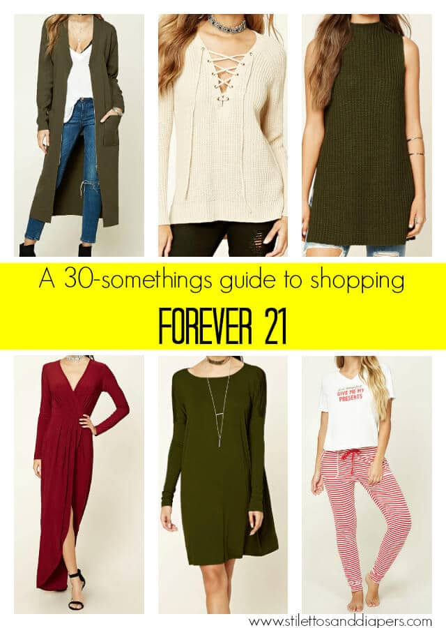 How to shop at Forever21 in your 30s, Stilettos and Diapers