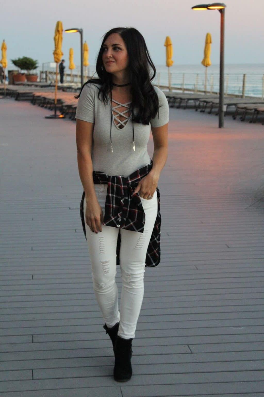 Hilton Sandestin | Bodysuit | Plaid tunic | J Jill Style
