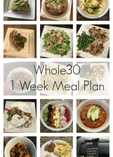 Whole30 Complete 1 Week Meal Plan