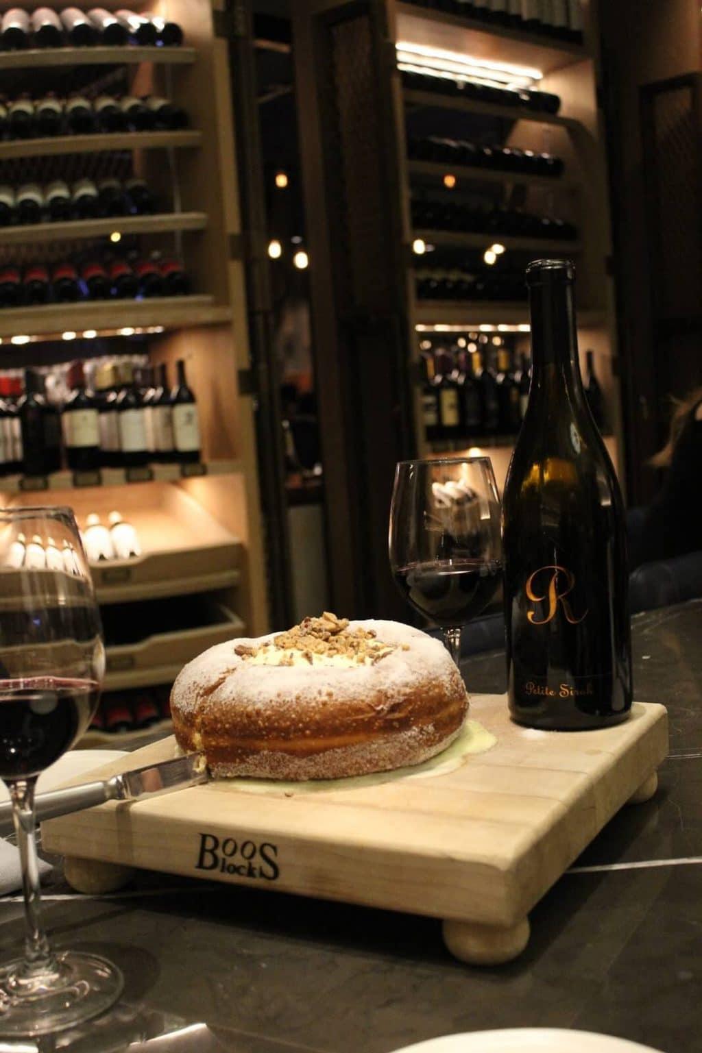 Charlotte Marriott City Center, Stoke Restaurant 1lb donut, Wine Bar