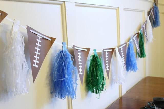 Super Bowl Party Simple Decorations