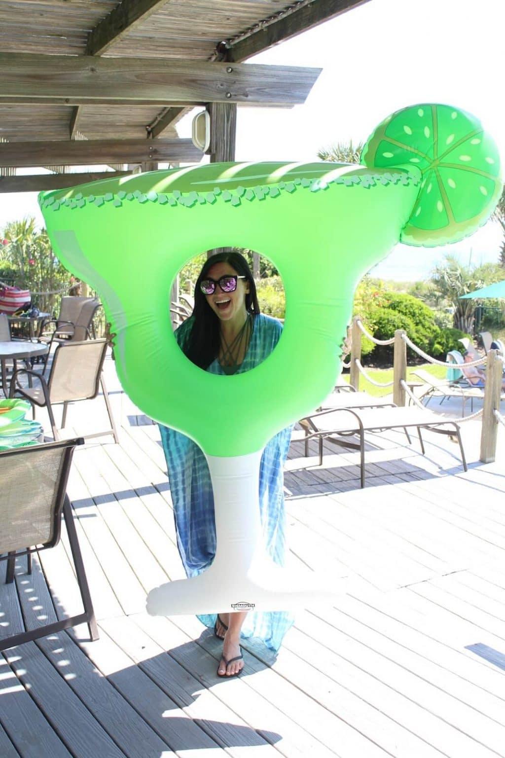 Maxi Bathing Suit Coverup, Margarita Float