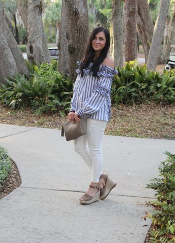 Off The Shoulder Ruffles and Stripes