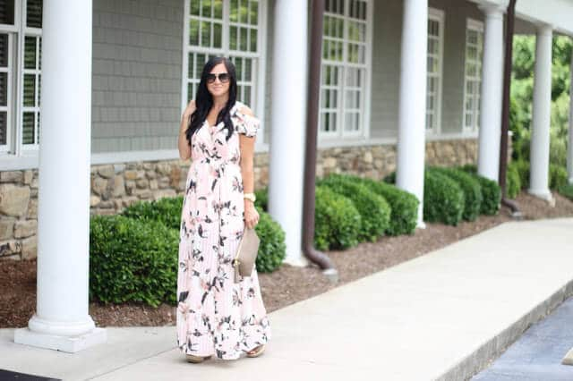 Floral Maxi Dress, Prada Sunglasses,