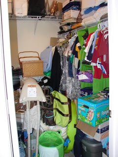Closet cleaning. Before and after.
