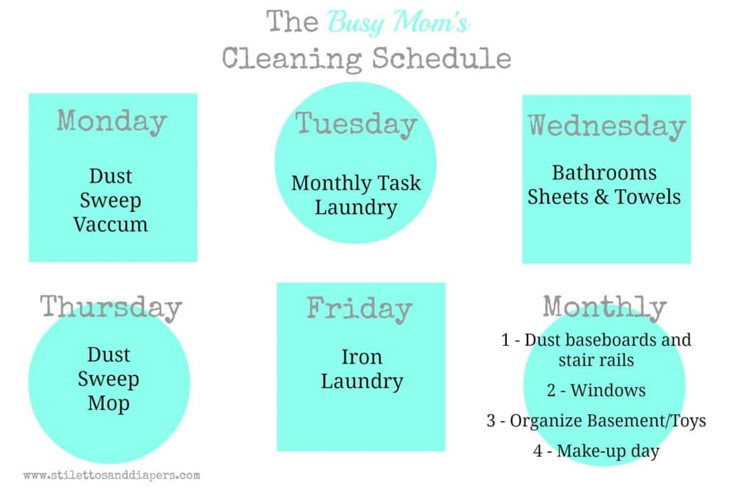 The Cleaning Schedule - Stilettos & Diapers