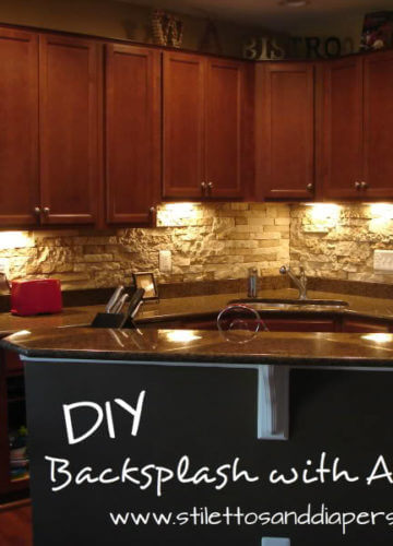 DIY Stone Backsplash with AirStone