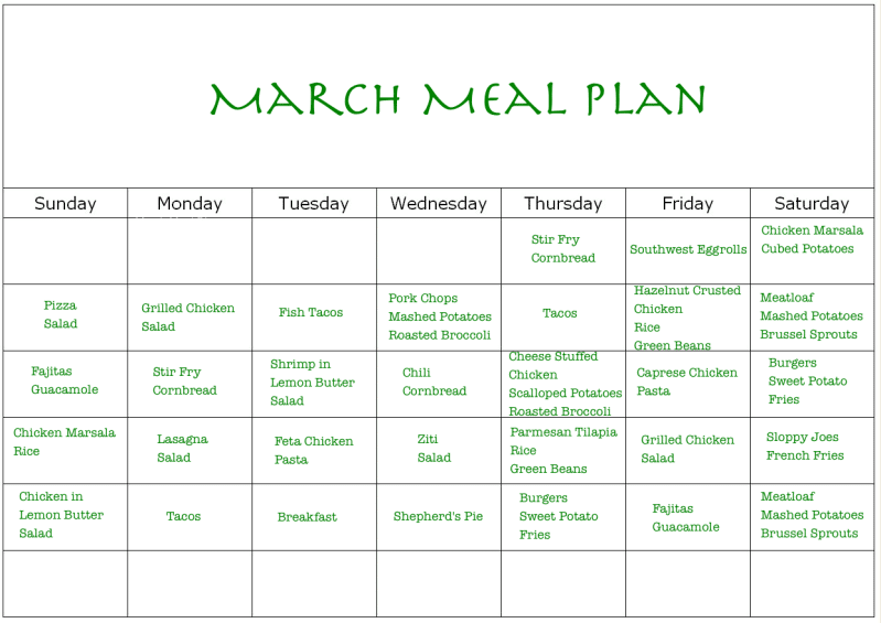 Monthly Meal Plan Calendar : Monthly meal planning and shopping stilettos diapers