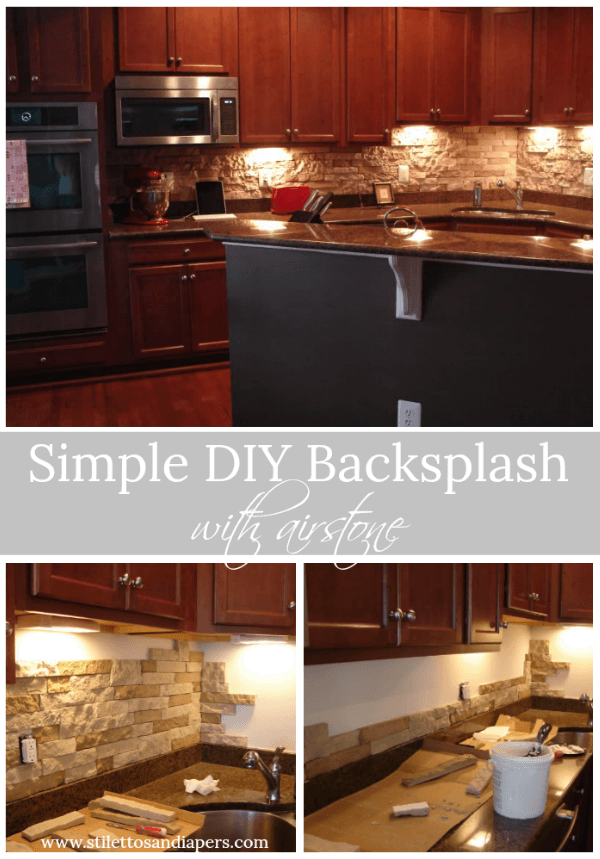 Backsplash with Airstone, DIY