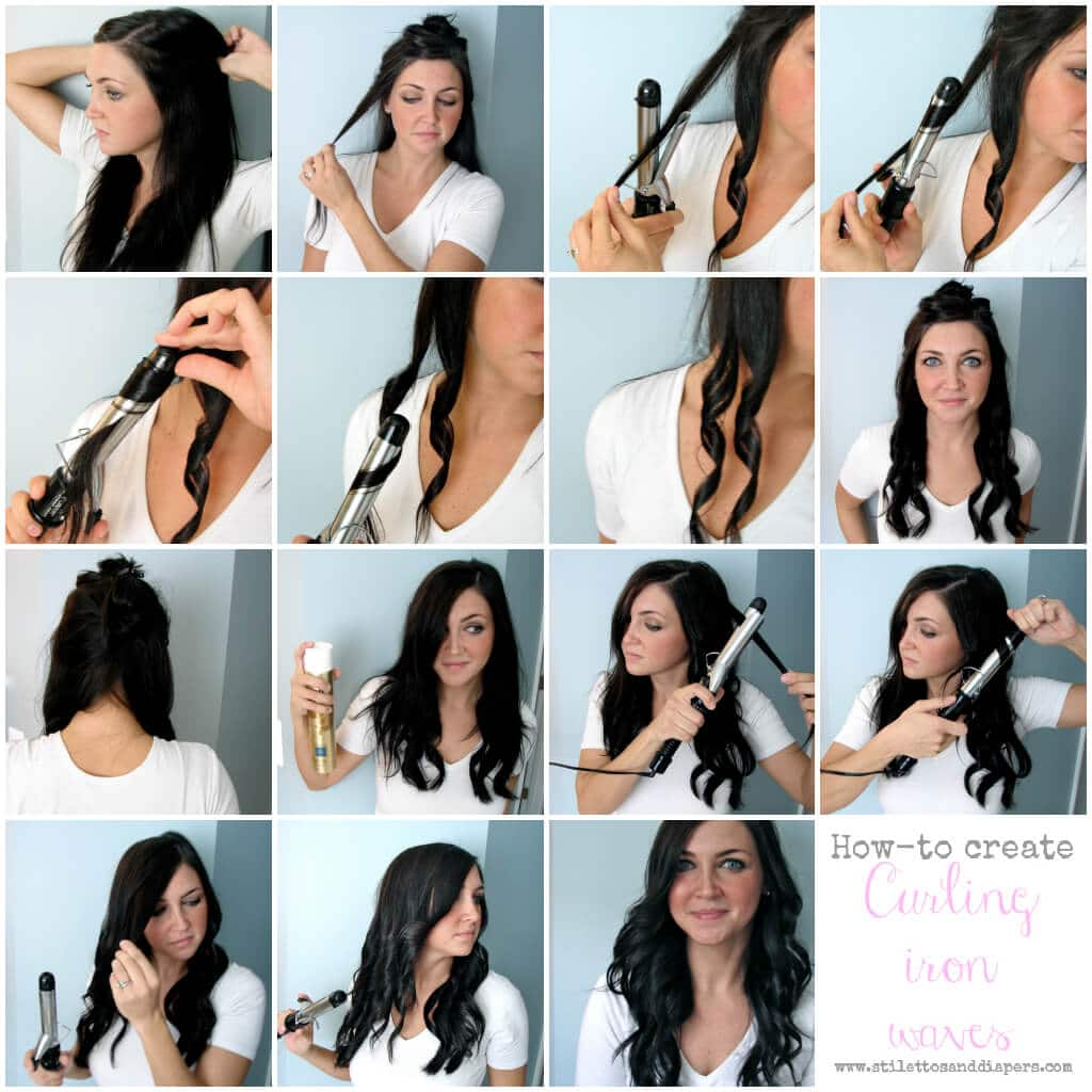 Hair How To Curling Iron Waves Stilettos Diapers
