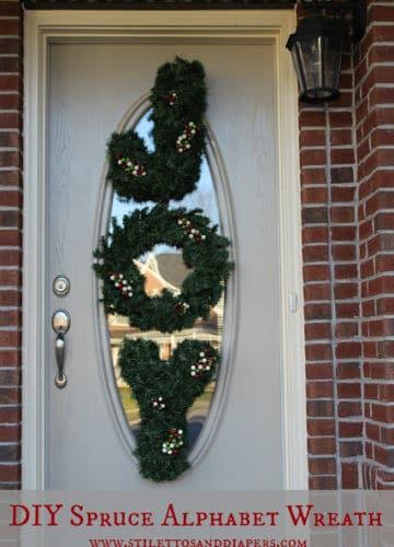 DIY: Spruce Alphabet Wreaths, Ballard Design Style