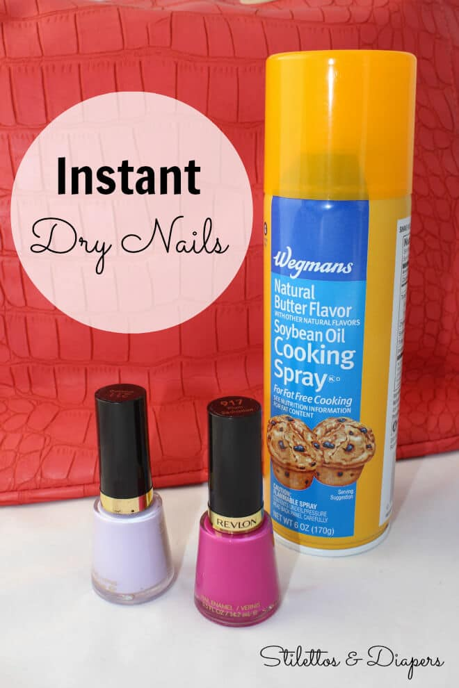 Cooking spray nails, pam nails, paint nails with cooking spray, pam