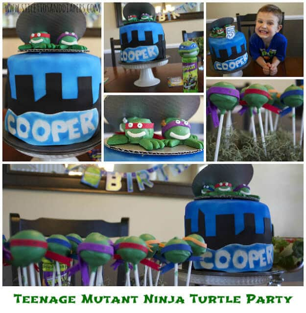 Teenage Mutant Ninja Turtle Party via Stilettos and Diapers