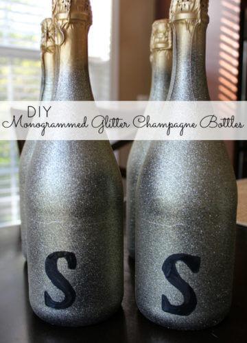 DIY: Monogrammed Glitter Bottles