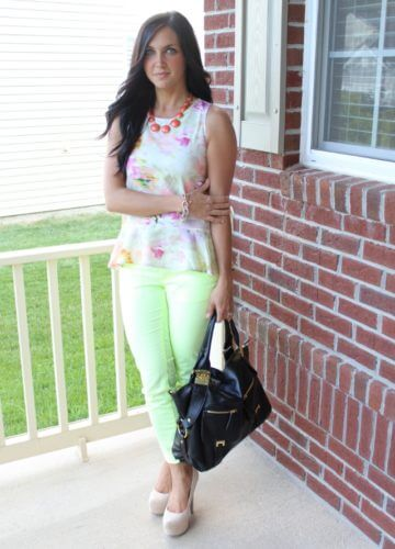Neon and Floral {A Fashion Post}