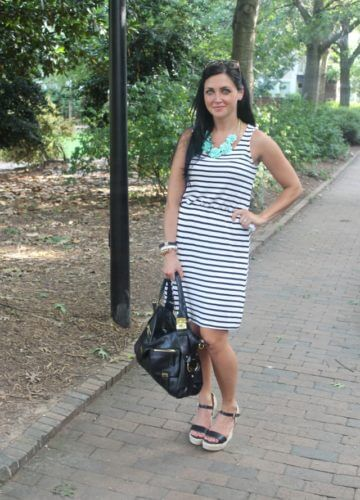 Stripes and Mint {A Fashion Post}