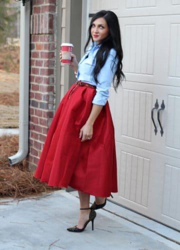 Big Red Christmas Skirt {A Fashion Post}