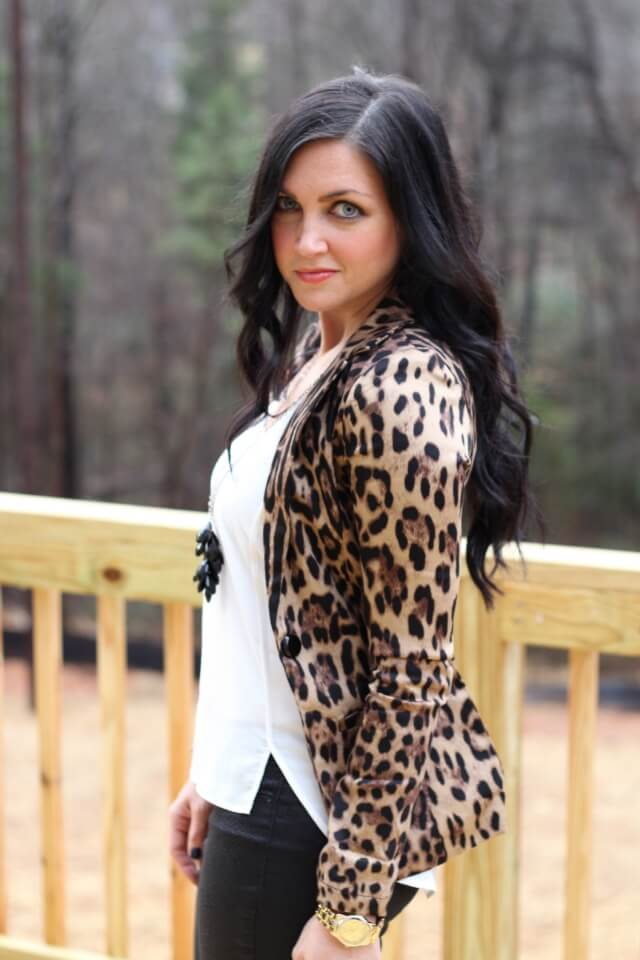 Stilettos and Diapers: Leopard Blazer