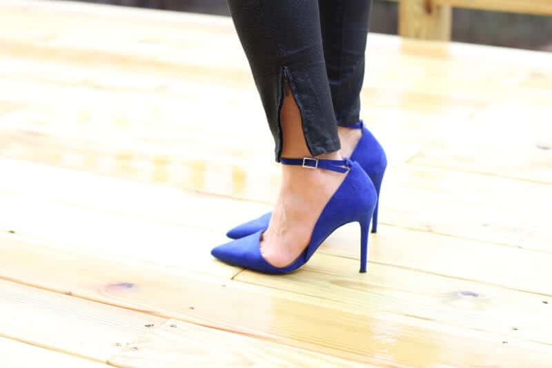 Stilettos and Diapers: Blue Suede Pumps
