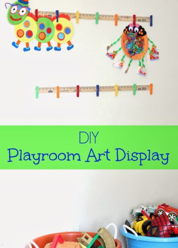 DIY: Playroom Art Display