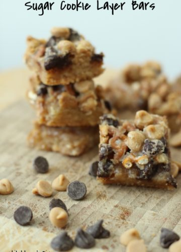 Easy! Sugar Cookie Layer Bars {Recipe}