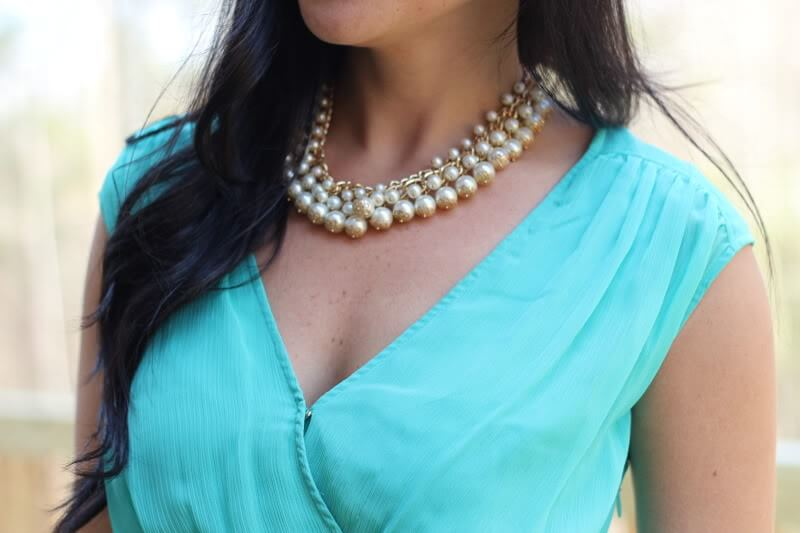 Pearl Cluster Necklace: Molly Suzanne