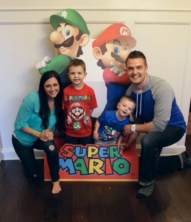 Super Mario Birthday Party Stilettos Diapers
