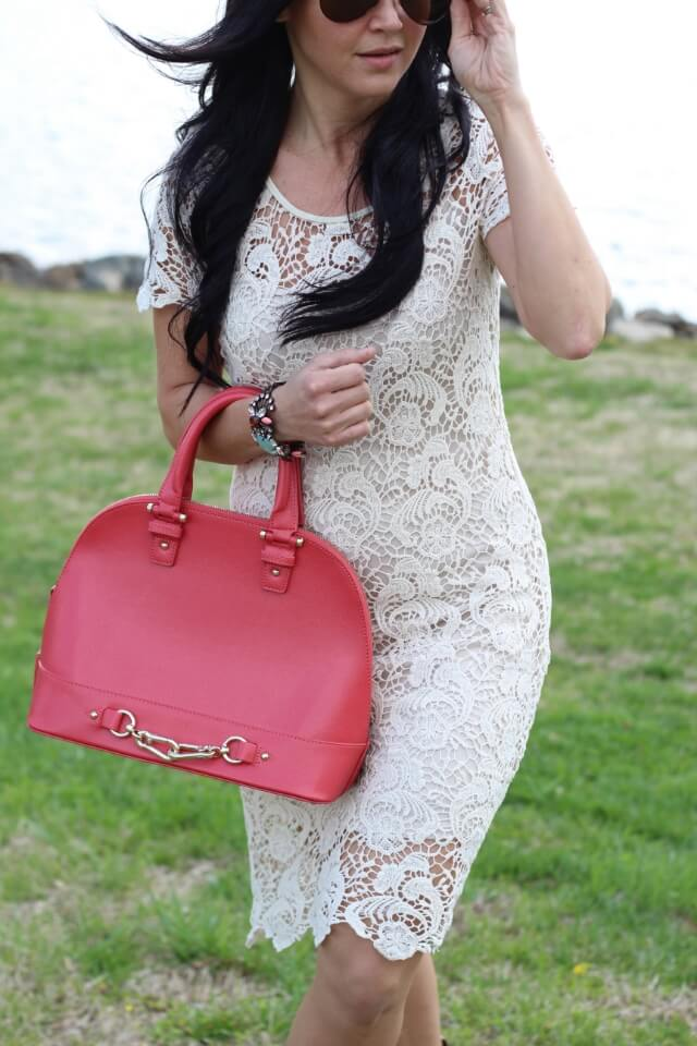 Stilettos and Diapers: Lace dress, cowboy boots, pink purse