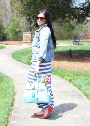 Stripes and Spring Shoes {Fashion}