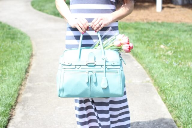 Mint purse and tulips