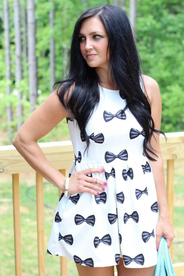 Stilettos and Diapers: Bow Dress via Choies (Kate Spade knockoff)