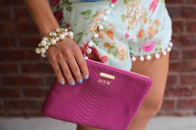 Stilettos and Diapers: Pom Shorts, Gigi Bag