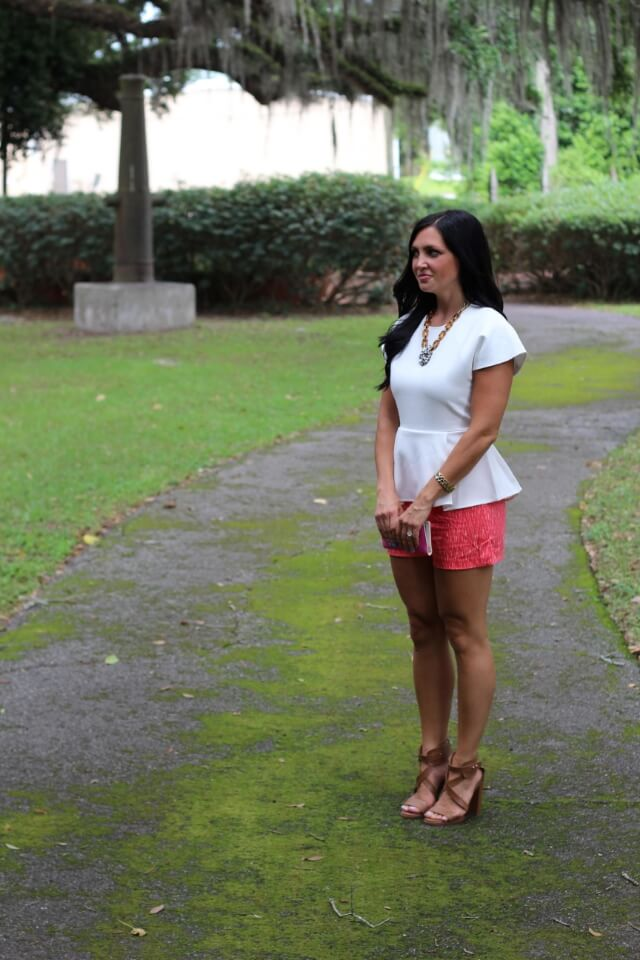 Stilettos and Diapers: Front Row Shop Peplum, Ikat Shorts