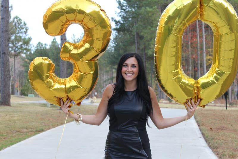 Black and Gold 30th Birthday