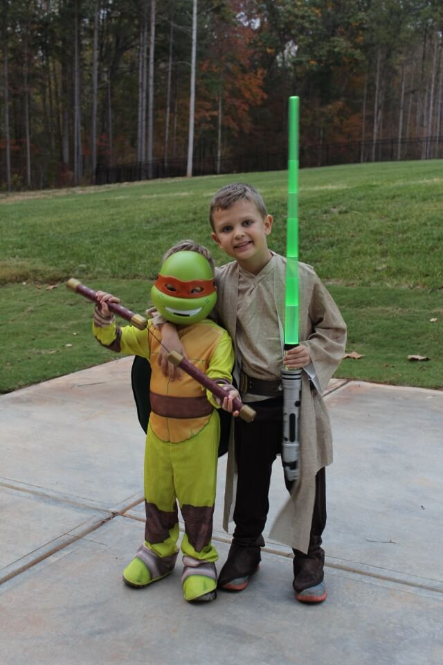 Luke Skywalker, Michelangelo Halloween. Stilettos and Diapers