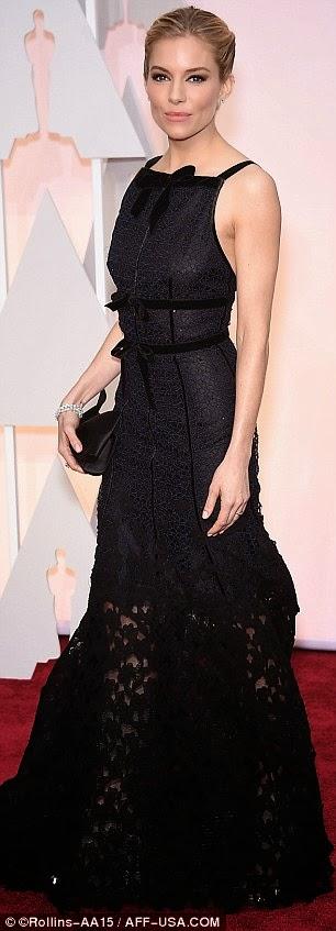 Sienna Miller Oscar de la Renta Oscars