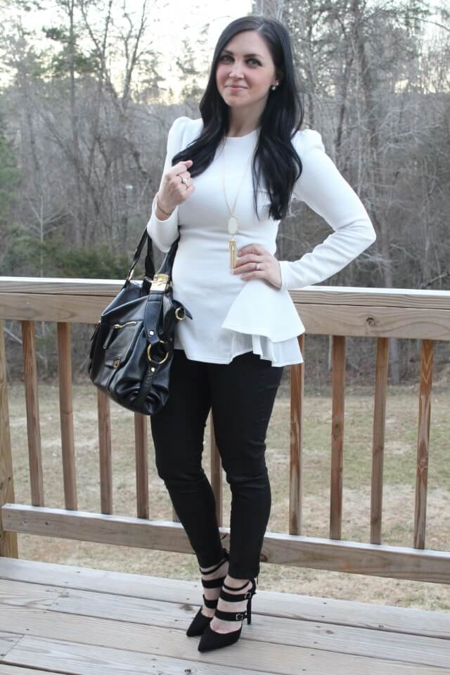 Black and White Fashion via Stilettos and Diapers