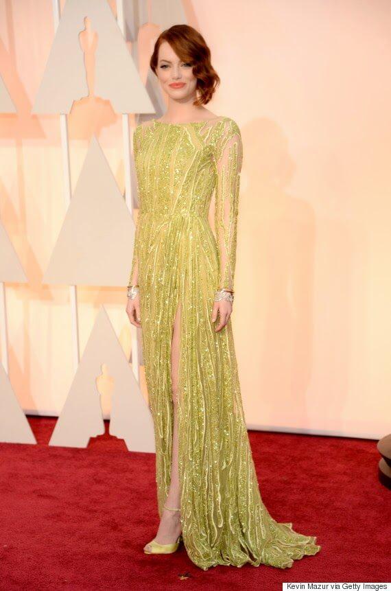 Emma Stone Elie Saab Oscars