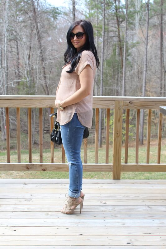 Stilettos and Diapers: Pleione Top, Neutral Heels